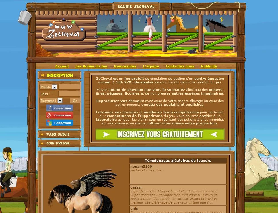 ZeCheval.com Chevaux Virtuels